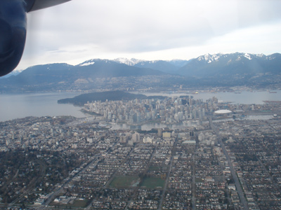 Vancouver from floatplane