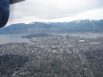 Vancouver from floatplane